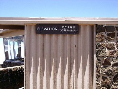 This is the actual Pu'u'ula'ula summit lookout at 10,023 feet.