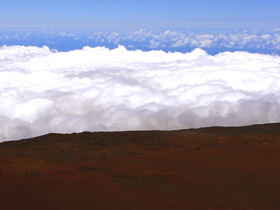 Ascending towards the summit of the crater.