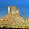"""09/24/12: Another view of West Mitten Butte. The name """"mitten"""" was given as these buttes look like hands, yet it signifies spiritual beings watching over."""