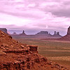 """09/25/12: Another view of the Monument Valley landscape taken from the """"North Window."""" The trail skirted the sides of these Buttes and they are gigantic in size and scale."""