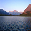 Dawn on Swiftcurrent Lake. The lake is 4,878' above sea level.
