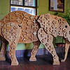 09/23/12: This free-standing elephant is one of several handmade artwork which decorates the hotel hallways.