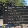 Its been written hiking Bear Cannon to Seven Falls is an incredible Sonoran Desert hiking experience. After hiking that trail today, I certainly agree. The trail base is located at the Sabino Canyon Visitor Center. The total round trip is 8.2 miles.