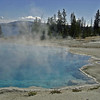 The Abyss Pool, a bright blue hot spring.