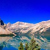 08/10/17: This is Bow Lake in western Alberta, Canada. It is located on the Bow River, in the Canadian Rockies, at an elevation of 6,299' above sea level.