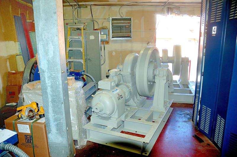 Inside elevator mechanical room West
