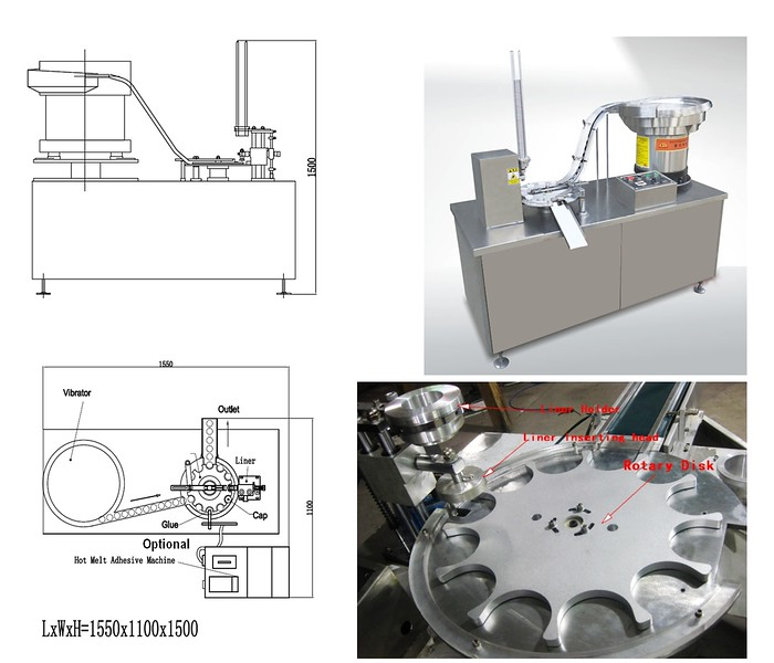 ENTRY LEVEL Pre-Cut Cap Lining Machine - Summary Picture