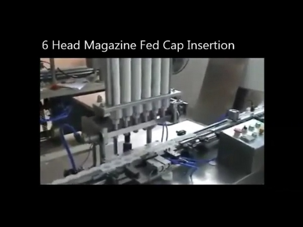 6 Head Inline Pre-Cut Cap Lining Machinery