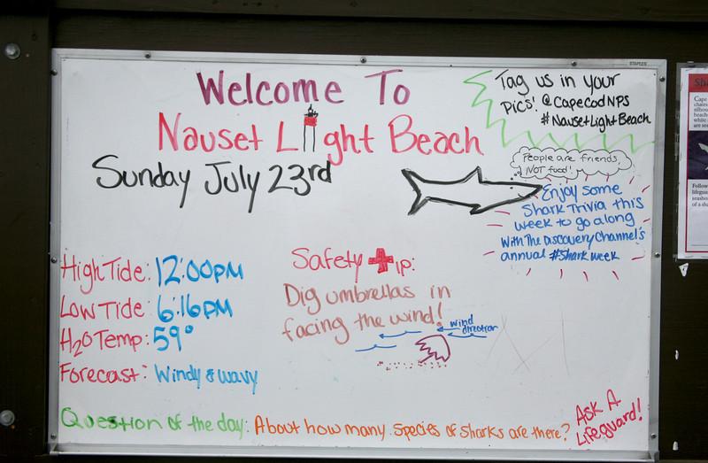 Sign at Nauset