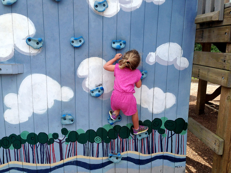 Laine On The Climbing Wall