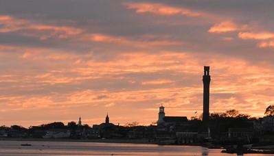 P'Town Skyline at Sunset