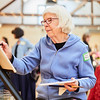 Karin Peterson takes part in the Creative Community Paint-Ins at The Rockport Art Association & Museum on Sunday, January 21, 2018. Jared Charney / Photo