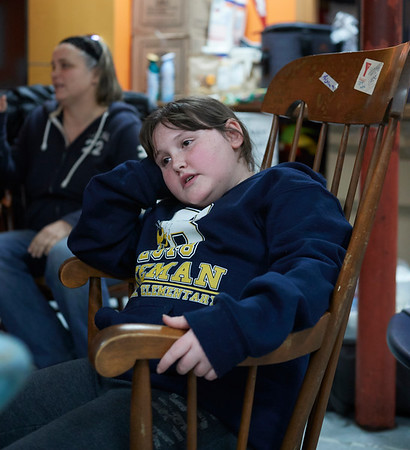 Alyssa Merrill at the 21st Annual Rock-A-Thon to help feed those in need at the Teen Center in Gloucester, Saturday, January 13, 2018. Jared Charney / Photo