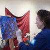 Heidi Caldwell Zander  takes part in the Creative Community Paint-Ins at The Rockport Art Association & Museum on Sunday, January 21, 2018. Jared Charney / Photo