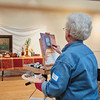 Marcia Savory takes part in the Creative Community Paint-Ins at The Rockport Art Association & Museum on Sunday, January 21, 2018. Jared Charney / Photo
