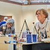 (R) Holly Alto & Su Guest-Mcphail take part in the Creative Community Paint-Ins at The Rockport Art Association & Museum on Sunday, January 21, 2018. Jared Charney / Photo