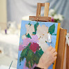 Terri Pugilsi takes part in the Creative Community Paint-Ins at The Rockport Art Association & Museum on Sunday, January 21, 2018. Jared Charney / Photo