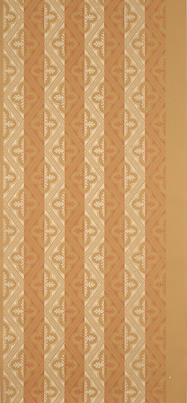 Adelphi Paper Hangings/Courtesy photo<br /> This lovely geometric pattern, Laurel Harlequin, was printed by Moses Grant Jr. and was found in the 2nd Harrison Gray Otis House, designed by Charles Bulfinch and built on Beacon Hill about 1800. It hangs on walls of the Davises' dining room.