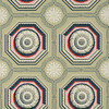 Adelphi Paper Hangings/Courtesy photo<br /> Coffered Rosette, a French design circa 1800, today might seem to be intended for a ceiling, but were, in the 19th century, typically used as a sidewall paper for a large public space. The museum chose this paper for back parlor of the Davis house.