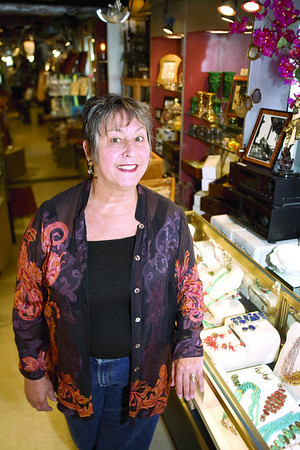 Marianthe Anagnostis, of Mahri's boutiques, opened the first of her three shops in Manchester-by-the-Sea.  Staff photo/Amy Sweeney
