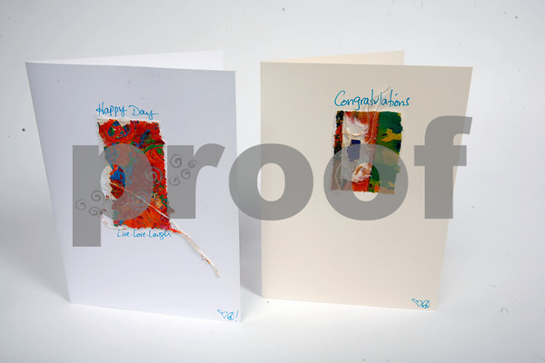 "There is nothing that says, ""down to earth"" more than handmade greeting cards. Each card was produced from paintings that Brenda Malloy created while living in Bali, Thailand for the winter. $6. Available at Imagine, Rocky Neck Art Colony, 43 Rocky Neck Avenue, Gloucester. 978-282-1346."