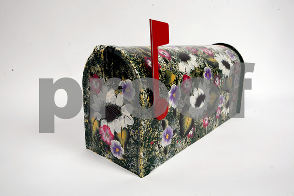 For the earthy, flower child. This mailbox was  handpainted by Pauline Bresnahan, $65.  Available at Pauline's Gift Shop, 512 Essex Avenue, Gloucester. 978-281-5558. www. paulinesgiftshop.com.