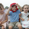 Aria Caputo, 4, saw Salma Hayek at the Essex Fairy Festival while Stevie Ross, 3, and his sister Ava saw Salma Hayek at Cripple Cove playground in Gloucester. Mary Muckenhoupt/Gloucester Daily Times