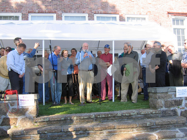 Richard Rosenfeld was surprised at his summer birthday bash with a special performance of the Yale Russian Chorus. Photo by Gail McCarthy