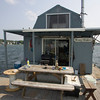 Gloucester: DIrt Murray's houseboat on the Annisquam River. Mary Muckenhoupt/Staff Photo