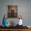 Marleigh Callahan, 13, right  and her mother Alison Callahan of Rockport look at the exhibit Ars Longa, Vita Brevis: Rockport Artists in the 1930s, which is at the Cape Ann Museum through October 16, 2010.<br /> Photo by Amy Sweeney