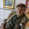 Harold Rotenberg at the home of his daughter, Judi Rotenberg.