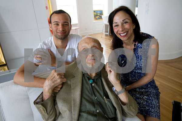 Harold Rotenberg with his grandson, Franklin Ross, and daughter, Judi Rotenberg.
