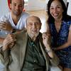 Harold Rotenberg with his grandson, Franklin Ross, and daughter, Judi Rotenberg