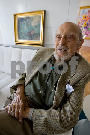 Harold Rotenberg at the home of his daughter, Judi Rotenberg.