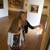 Marleigh Callahan, 13, and her mother Alison Callahan of Rockport look at the exhibit Ars Longa, Vita Brevis: Rockport Artists in the 1930s, which is at the Cape Ann Museum through October 16, 201