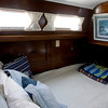 A bed in the aft cabin.