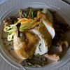 Chicken with morel mushrooms and asparagus at the Emerson Inn in Rockport. Photo by Kate Glass
