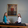 Marleigh Callahan, 13, right, and her mother Alison Callahan of Rockport look at the exhibit Ars Longa, Vita Brevis: Rockport Artists in the 1930s, which is at the Cape Ann Museum through October 16, 2010.<br /> Photo by Amy Sweeney