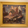 Carl Peters (1897-1980)<br /> Rockport Harbor IV<br /> c. 1930s<br /> Oil on canvas<br /> Collection of the Rockport Art Association. currently on exhibit at the Cape Ann Museum through October 16, 2010