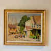 Yarnall Abbott (1870-1938)<br /> Street by the Harbor (Dock Square, Rockport)<br /> c. 1930s<br /> Oil on canvas<br /> Private Collection currently on exhibit at the Cape Ann Museum<br /> through October 16, 2010