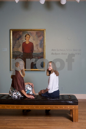 Alison Callahan and her daughter Marleigh Callahan, 13,   of Rockport look at the exhibit Ars Longa, Vita Brevis: Rockport Artists in the 1930s, which is at the Cape Ann Museum through October 16, 2010