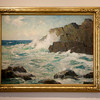 Stanley Woodward (1890-1970) Coastal Ledges.<br /> Undated, Oil on canvas<br />  <br /> Ars Longa, Vita Brevis: Rockport Artists in the 1930s currently on exhibit at the Cape Ann Museum through October 16, 2010.