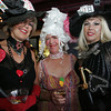 """Margi Green, left, Susie Field and Dale Grasso attend the """"Dudes and Divas"""" themed Beaux Arts Costume Ball at The Studio on Rocky Neck The evening included, food, a silent auction and dancing to raise money for the Rocky Neck Art Colony. Photo by Mary Muckenhoupt"""