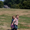 Carter, 6, and Morgan,3, Bilodeau of Swampscott get ready for a picnic at Coolidge Reservation in Manchester-by-the-Sea. <br /> Photo by Mary Muckenhoupt