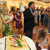 Rockport: Jon Rotenberg wishes his father Harold Rotenberg many more years of good heath and life at his 105 Birthday and Art reception at the Rockport Art Association on July 16,2010. Desi Smith Photo/Gloucester Daily Times.