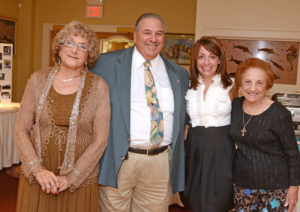 Gloucester:  Grace Favazza, Vito Calomo, Amy Nicole Kerrigan and Gerri Lovasco at the 10th Anniversary Celebration at the Gloucester House August 4,  2011. Desi Smith