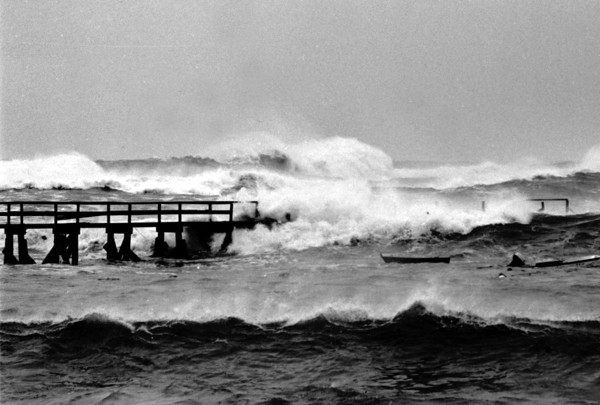 Gloucester: File photo of Perfect Storm (no-name storm of 1991.) (Photo by Cristin Bradley/Gloucester Daily Times). Thursday, January 30, 2003.