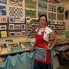 Jim Vaiknoras/Cape Ann Magazine: Julia Garrison inside of The Sarah Elizabeth Shop in Rockport.
