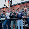 Gloucester:  From left to right 1st Mate Scott Ferriero, Capt Bill Monte of Bounty Hunter,Capt Ralph Wilkins of Odysea, Capt Dave Carraro of Tuna.Com, Capt Kevin Leonowert of of Christina, and Capt Dave Marciano of Hard Merchandise give the tail sign at the Crows Nest Sunday night.  Desi Smith/Gloucester Daily Times. June 3,2012
