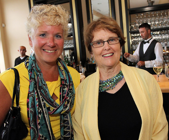 ALLEGRA BOVERMAN/Cape Ann Magazine. At the 40th Birthday Party for State Rep. Ann-Margaret Ferrante at Cruiseport on June 22. From left are Val Gilman and Jan Bell, both of Gloucester.